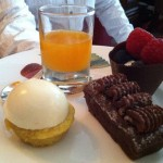 Gluten free desserts at Browns Hotel Tea Room