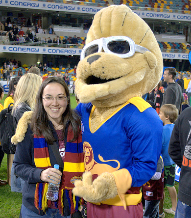Me with Brisbane Lions mascot