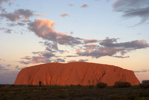 Uluru/Ayers Rock at sunset