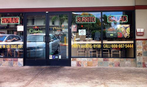 Cilantro Mexican Grill in Lahaina, Maui