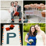 Orange and blue wedding colors: Our perfect combination
