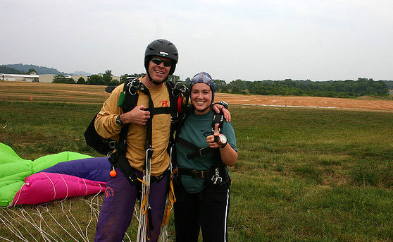 first skydive - smiles!