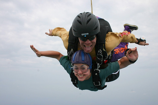 first skydiving experience