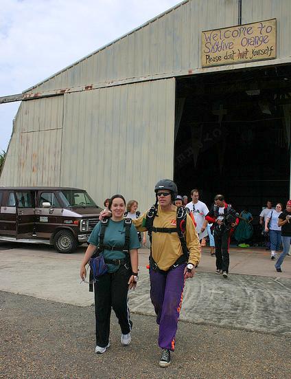 Tandem skydive partner