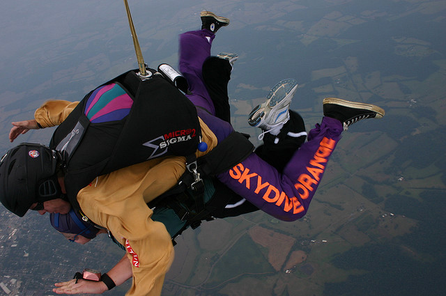 tandem skydive over Virginia