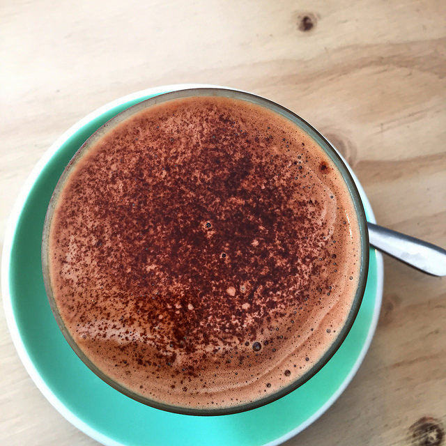 Dairy free, almond milk coffee in Australia