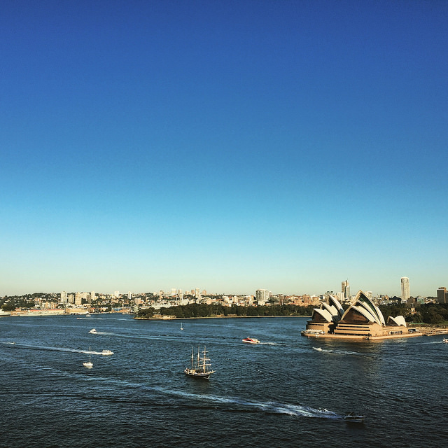 Sydney Harbour view from the bridge